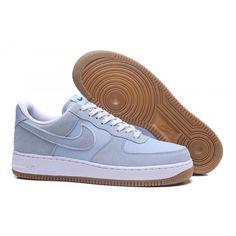 reputable site c094c dd09e 2018 NIKE AIR FORCE 1  07 Womens Mens Trainers Light Blue White Sale Nike  Air