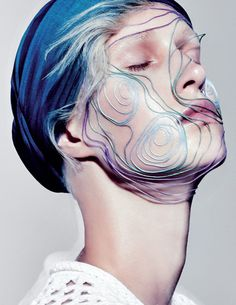 bienenkiste:Photographed by David Newton for Wylde magazine Makeup Collage, Style Bleu, Make Up Art, Dark Photography, Fashion Photography, Fashion Collage, Creative Hairstyles, Losing A Dog, Fine Art Photo