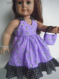 Doll Clothes Handmade Lavender Sundress For by GirlSewChic on Etsy, $15.00