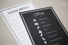 Hääjuhlan printit » Makea Design // Graafinen suunnittelu / wedding program