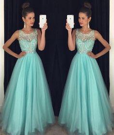 Prom Dress, Light Blue Prom Dress