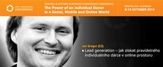 Jan Gregor (CZ) | CEE Fundraising Conference 8-10 October 2014 in Bratislava, SK www.ceefundraising.org
