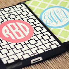 Monogrammed iPad mini cases are here!!!!