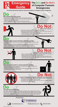 Do's and Dont's of a computer forensic emergency                                                                                                                                                                                 More
