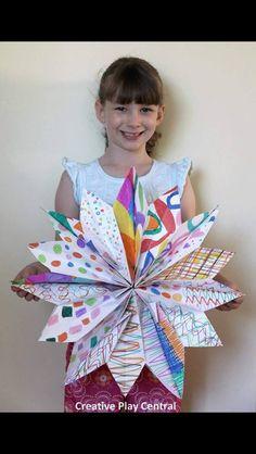 Paper Bag Stars - Art Teacher Life (FB)