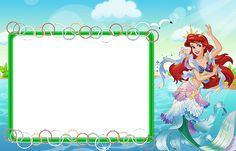 Kids Transparent Frame with Princess Ariel