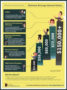 Average salary business infographic