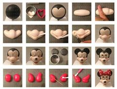 Ideas cake fondant mickey mouse for 2020 Mickey Cakes, Mickey Mouse Cake, Minnie Mouse Cake, Cake Decorating Icing, Fondant Decorations, Cake Decorating Tutorials, Fondant Figures Tutorial, Cake Topper Tutorial, Fondant Cake Toppers