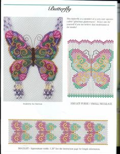 Beaded embroidery butterfly