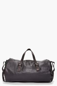 leather duffle bag m by mj