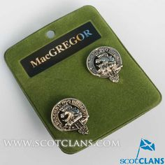 MacGregor Clan Crest Cufflinks