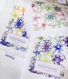PRINTELAS Digitally printed fabric before we made the gift bags!