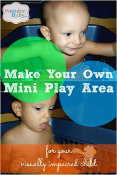 Don't have the space or money for a big play area for your blind baby? How about a mini play area?