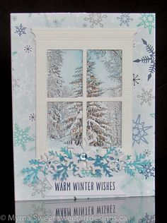 blur window 3 Christmas card - For for details, see my blog at www.sweetartdesigns.ca