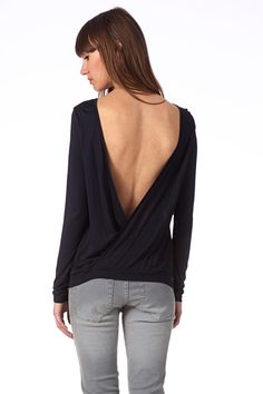 Top backless Madina Marine Bash. this one, with it's easy jersey knit material, could easily be paired with a bright colored bandeau cotton bralet to cover brastrap in back for those who can't/don't want to go bra-less.