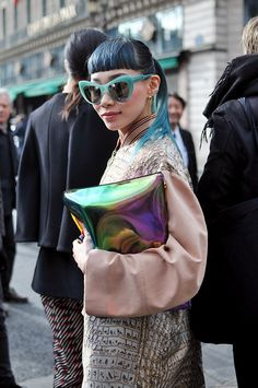 Japanese musician Mademoiselle Yulia wearing Stella McCartney.