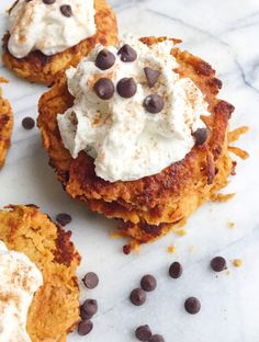 Sweet Potato Fritters with Coconut Whipped Cream
