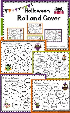 Halloween Roll and Cover! Great math centre!