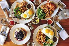 The best splurge brunch in Toronto is a reward for all that you do throughout the week, and how hard you went the night before. Weekends in this ci. Breakfast Cafe, Work Meeting, Brunch Party, Grubs, Recipe Of The Day, Palak Paneer, Toronto, Good Things, Plates