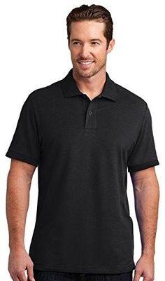 78f2c099df76a8 District Made Mens Stretch Pique Polo Shirt. DM325