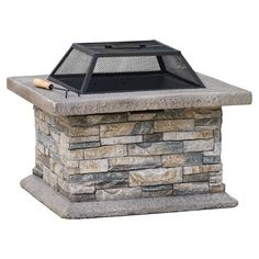 Crafted from cement and stone and showcasing a removable iron grate, this lovely fire pit is perfect for hosting late-night neighborhood bonfires or toasting...
