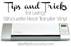 Tips and Tricks for using Silhouette Heat Transfer Vinyl by Life After Laundry