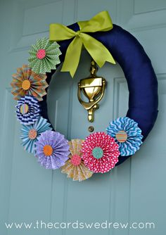 DIY pinwheel wreath.