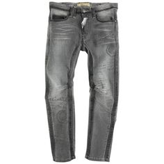 Twisted stone-washed grey jeans