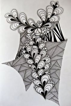 Claudia's World of Zentangles: I am the Diva - Challenge #32