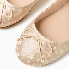 Image 2 of STAR PRINT BALLERINAS from Zara