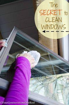 Best way to clean windows {spring cleaning} . Secret to a no streak window