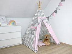 Namiot tipi - Szary zygzak z różem Toddler Bed, Furniture, Home Decor, Child Bed, Decoration Home, Room Decor, Home Furnishings, Home Interior Design, Home Decoration