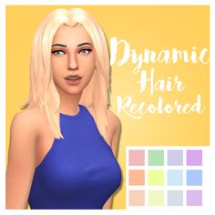 Honest Kiara Zurk Dynamic Hair // Recolored
