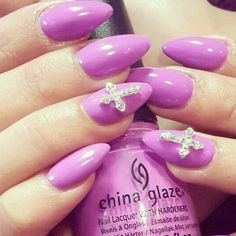 """""""Cross my Heart"""" 3D Nail Art Jewels available on our website www.nailcandi.co.za The ONLY reusable nail art available! #3DNailArt #NailArtCharms #NailCandy"""