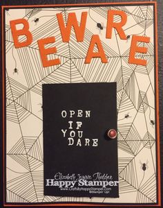 Stampin Up Haunt Ya Later, Happy Haunting, Little Letters Thinlits