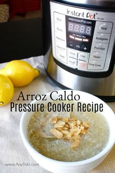 Arroz Caldo is a Filipino Recipe dish. You can make it in a pressure cooker like Instant Pot. This is comfort food perfect for cold or rainy days. It's a simple chicken recipe with little ingredients that yields a lot. Filipino Dishes, Filipino Recipes, Pressure Cooker Recipes, Slow Cooker, Multigrain, Easy Chicken Recipes, Rainy Days, Food Dishes, Instant Pot