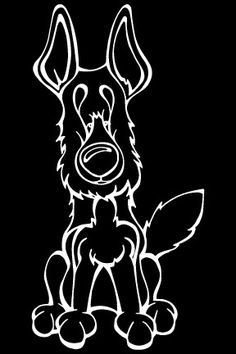 German Shepherd Decal Dog