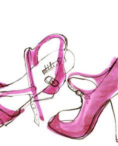 FAST rendering: Penelope Rolland shoe sketch