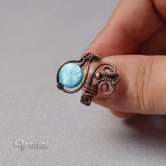 Alambre, anillo, anillos, joyería de alambre, anillo de cobre, regalo para ella, declaración anillo, joyería envuelta alambre, anillo de boho, ideas de regalo, colores