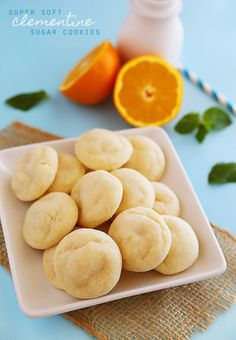 Super Soft Clementine Sugar Cookies - Soft, citrusy sugar cookies are the perfect use for clementines, lemons, oranges, or any of your favorite citrus fruits.   thecomfortofcooking.com