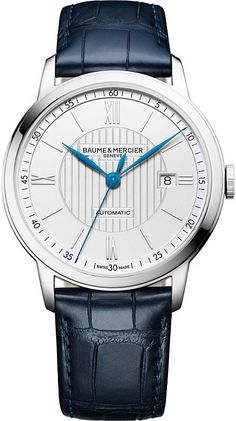 Baume   Mercier M0A10333 Classima stainless steel and crocodile leather  watch c2d110d6438