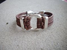 Distressed Brown Multi Strand Leather by DesignsbyPattiLynn, $55.00