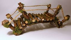 Handcrafted Fairy Bridge - Miniature, Furniture, Garden, Dollhouse, Accessories