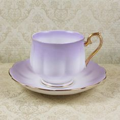 Vintage Royal Albert Pastel Lavender Rainbow English Bone China Tea Cup and Saucer Set by scdvintage on Etsy https://www.etsy.com/listing/261167493/vintage-royal-albert-pastel-lavender
