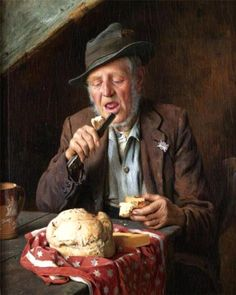Bread and Cheese ~ Charles Spencelayh ~ (English 1865 – 1958)