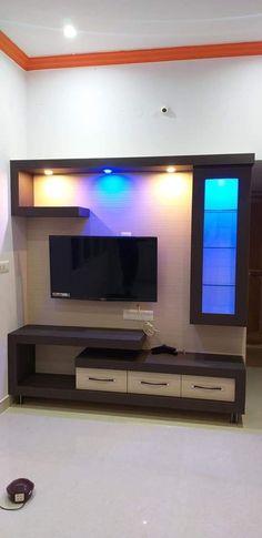 Tv Unit Furniture Design, Tv Unit Interior Design, Bedroom Furniture Design, Living Room Partition Design, Bedroom Door Design, Bedroom Cupboard Designs, Modern Tv Unit Designs, Wall Unit Designs, Modern Tv Room