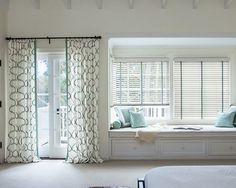 Inspiration From Smith Le Wood Blinds Parisian Pleat Drapery Tailored Square Pillow X Neckroll