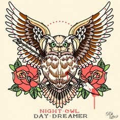 Night Owl, Day Dreamer - Rik Lee. Illustration, 2010.http://riklee.tumblr.com/post/909650582/night-owl-day-dreamer-c-rik-lee