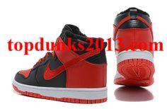 Outstanding Red Black White Fur Inside Nike Dunk Men High