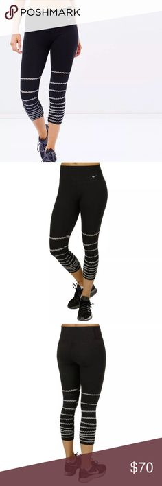 Nike legend tight fit burnout capris NWT Nike Legend burnout capri leggings. Tight fit.   Feed your need for a comfortable, flattering fit with the Nike Legend Tight Burnout Capris. A tilted waistband, flat seams, and triangular gusset keep you covered and give these capris a smooth feel. Embrace your shape throughout any workout in these Legend Tight Burnout Capris. Material: Spandex, Polyester, Jersey, Cotton Blend Nike Pants Leggings